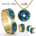 AG fashion brand flower fine jewelry set bracelet  Vintage Series shielded  Earring&Bangle&Necklace18K gold plated 13 styles