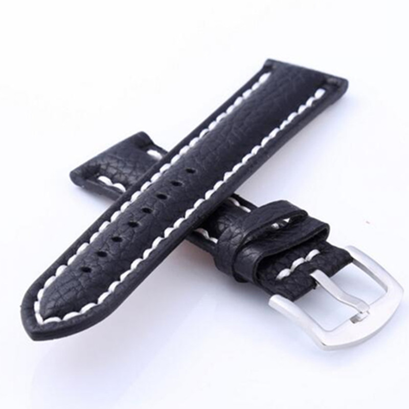 24mm 26mm Watchbands Retro Genuine Leather Brown Men 20mm 22mm Soft Watch Band Strap Metal Pin Buckle Accessories Relojes
