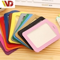 Bank Credit Card Holders Women Men PU Leather Neck Strap Card Bus ID Holders Candy Colors Ldentity Badge With Lanyard wholesale