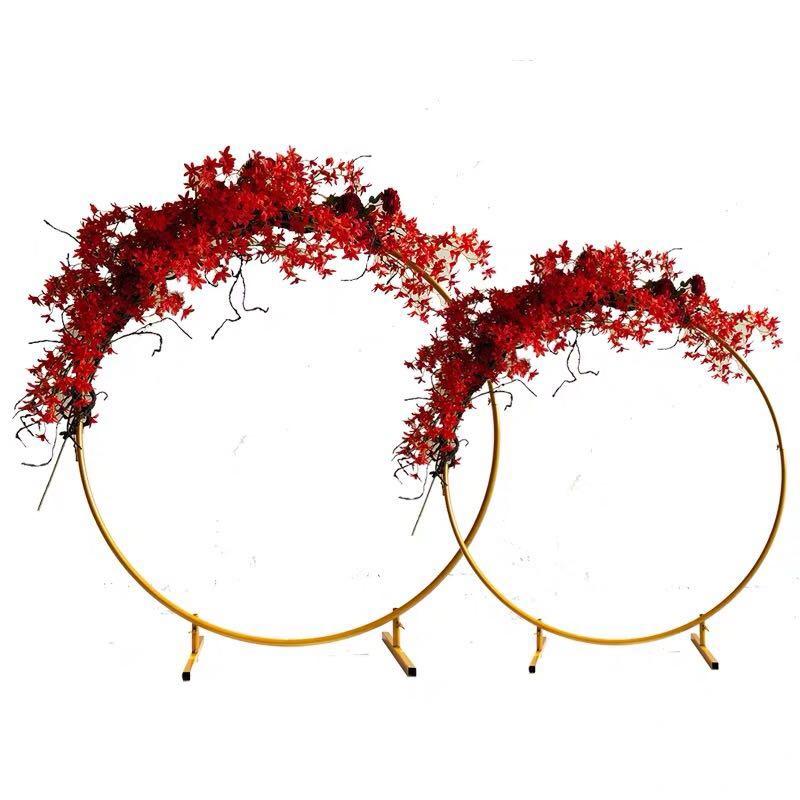 Ślubne łuk okrągły kutego żelaza półka ściana tła balon uchwyt półka kwiatowa DIY roślin ściana Wedding Party Supplies w Łuki ślubne od Dom i ogród na  Grupa 1