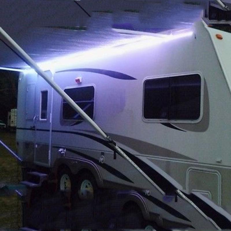 RV Motor Home Awning LED Light Kit Universal Fit Part BRIGHT White