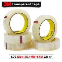 3M 600 scotch alto rendimiento transparente película cinta 25 4 MM * 66 M/10 rollos/lote