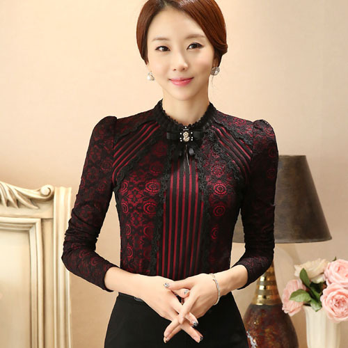 Long sleeved Casual Lace Top