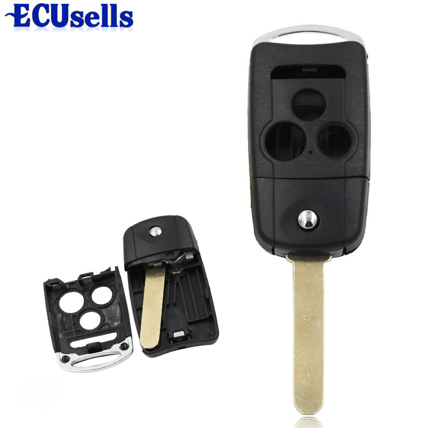4 Buttons Folding Remote Key Shell Case Fob For Acura TL