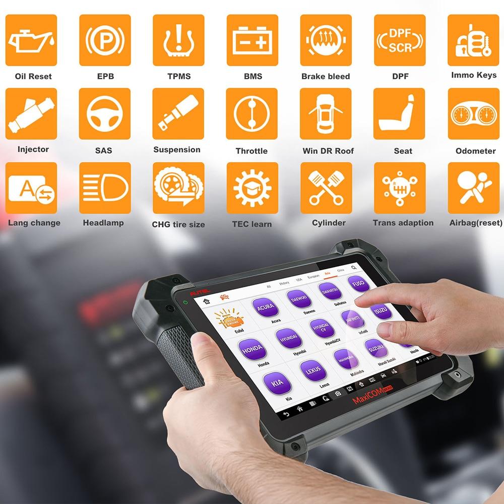 Autel MaxiCOM MK908 Auto Full OBD2 herramienta de diagnóstico de coche OBDII lector de código de codificación de código escáner OBD 2 HERRAMIENTA de escaneo pk Launch X431 - 2