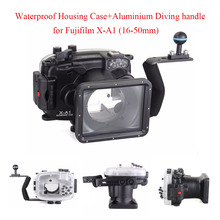 40m/130ft Underwater Diving Camera Housing Case for Fujifilm X-A1 (16-50mm)+Aluminium Diving handle,Camera Waterproof Housing