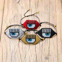Go2boho MIYUKI Armbänder Bösen blick Armband Pulseira Mujer Modus 2019 Handarbeit Gewebt Schmuck Frauen Schwarz Auge Delica Miyuki Joyeria