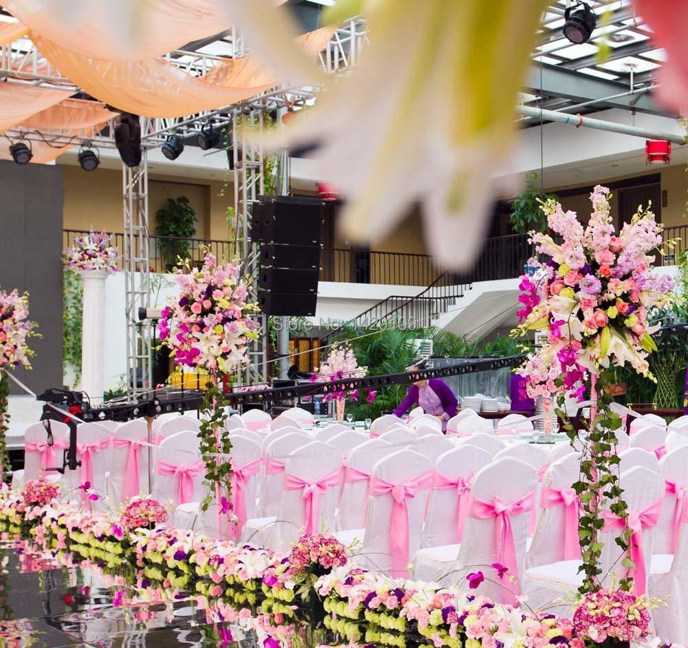 10cm 90m Pink Satin Ribbon Wedding Party Diy Supplies Decorations