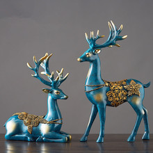XING KILO  European retro luxury room wine cabinets living decorations deer ornaments home model creative wedding gifts