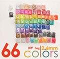 33000 шт 2,6 мм бисер мини-Хама 500/шт. Сумка 66 цветов perler доступно 100% гарантия качества PUPUKOU бусины активности предохранитель бусины