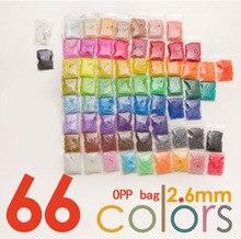 33000 adet 2.6mm Mini Hama boncuk 500/adet çanta 66 renkler perler mevcut % 100% kalite garantisi PUPUKOU boncuk etkinlik sigorta boncuk