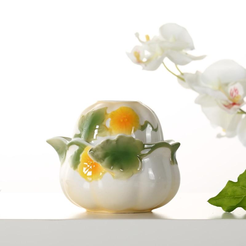 Эмалированная фарфоровая чашка Quik, портативная керамическая кружка, китайский кунг-фу, посуда для напитков, чайный набор для путешествий, 1 ...