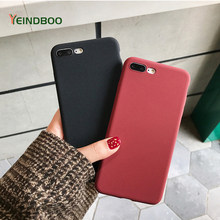 New Fashion Frosted Silicone Phone Case For iPhone X XR Xs Mas Gray Black Red TPU Soft Back Cover Cases For iPhone6 6s 7 8 Plus(China)