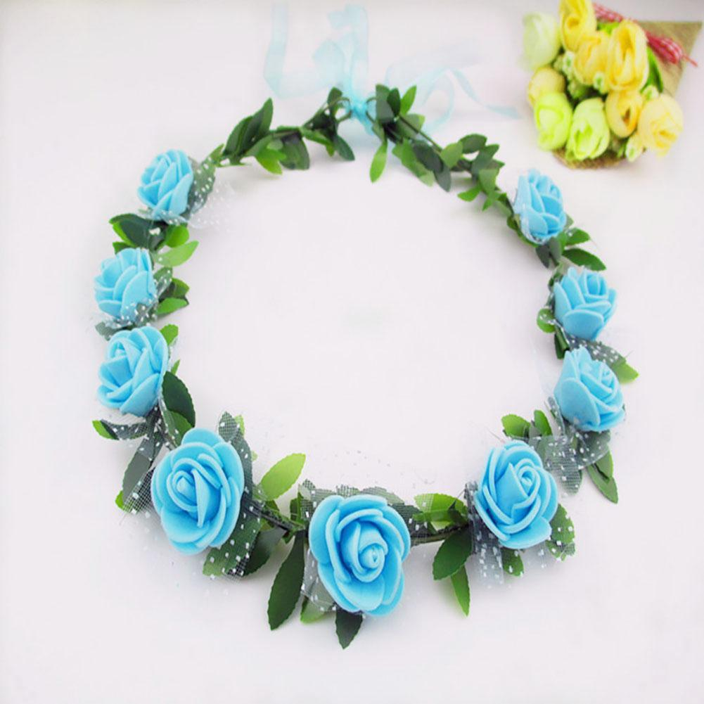 New handmade delicate head wreath wedding bride flower crown new handmade delicate head wreath wedding bride flower crown headpiece blue a190 in hair accessories from mother kids on aliexpress alibaba group izmirmasajfo