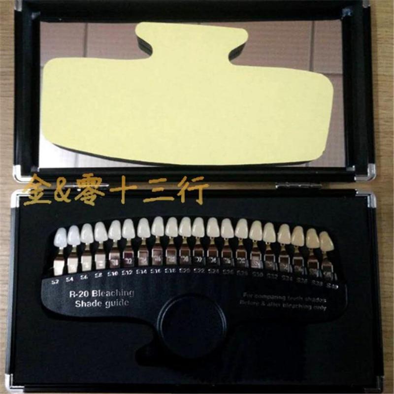 A0130 dents dentaires blanchissant R20 Guide d'ombre avec miroir dentaire porcelaine Pan classique 3D Guide d'ombre