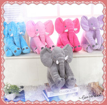 Soft  Elephant  Doll Baby Toys Elephant Pillow Plush Toys Stuffed Doll Gift for Girl Kids One Piece 13in
