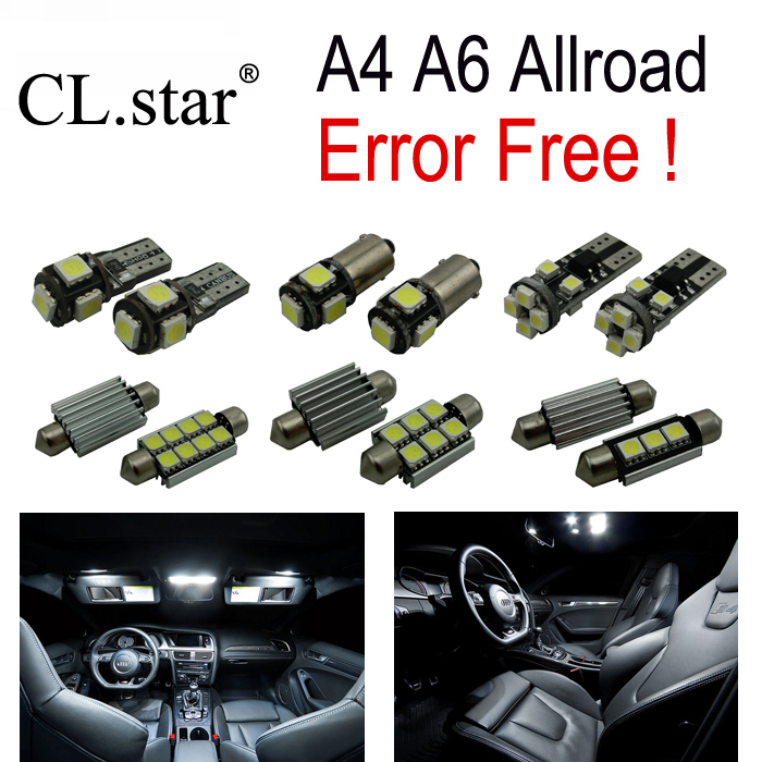 19pc X canbus Error Free for Audi A6 Allroad Quattro 4GH 4GJ LED Interior Light Kit Package (2012+) 18pc canbus error free reading led bulb interior dome light kit package for audi a7 s7 rs7 sportback 2012