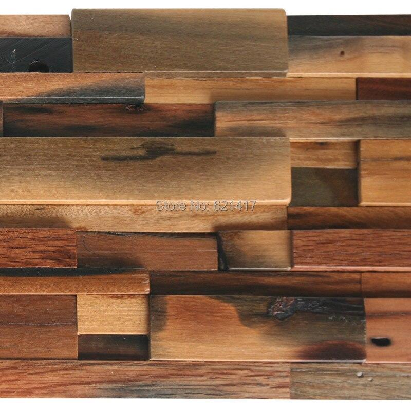 Popular wood mosaic tile buy cheap wood mosaic tile lots from china
