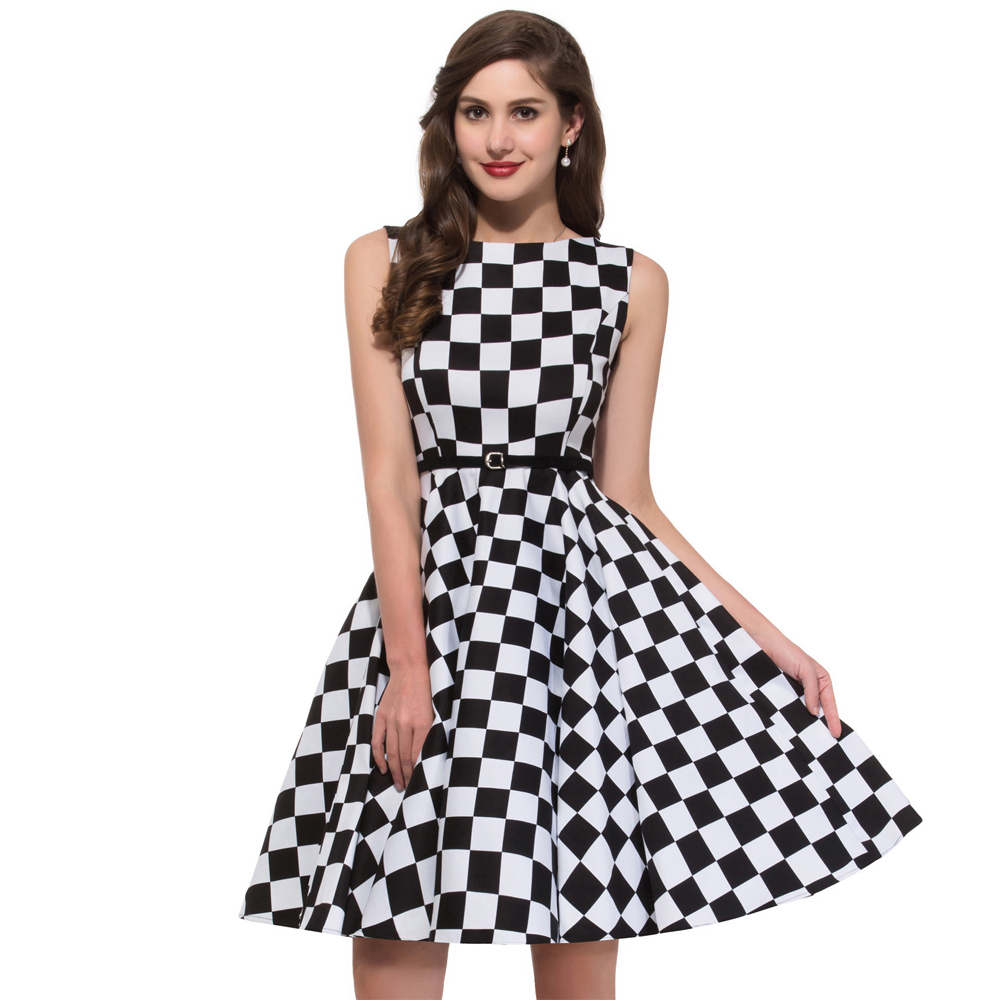 buy summer plaid dress girl 50s. Black Bedroom Furniture Sets. Home Design Ideas