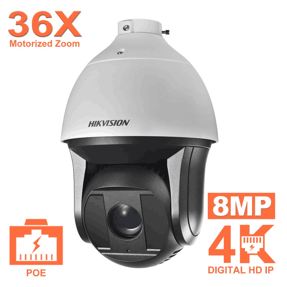 Hikvision Super HD Pan & Tile 360 Degree Video Surveillance Camera DS-2DF8836IX-AEL 8MP 7.5-270mm 36X Zoom IR PTZ IP Camera POE елочная игрушка снежинка 8 7 см