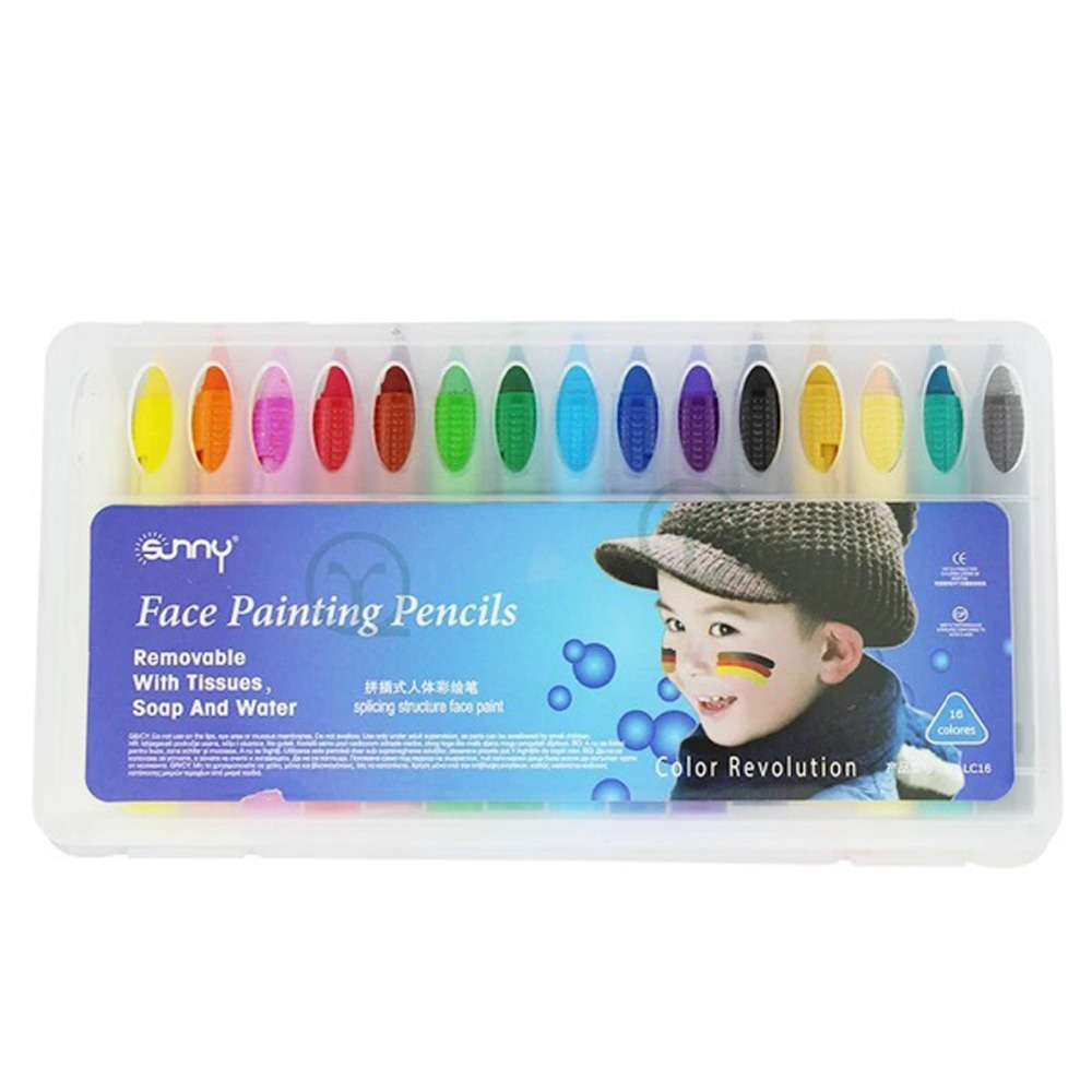 Makeup Latest Collection Of 16 Colors Face Painting Pencils Christmas Body Painting Pen Splicing Structure Face Paint Crayon Stick For Children Party Makeup