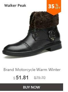 54bc939aa28 ... De los hombres de la moda de invierno zapatos de cuero genuino botas de invierno  para ...