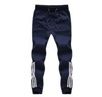 2017 Yeni Moda Eşofman Altları Erkek Pantolon Pamuk Eşofman Altı Erkek Joggers Çizgili Pantolon Jimnastik Giyim Artı Boyutu 5XL