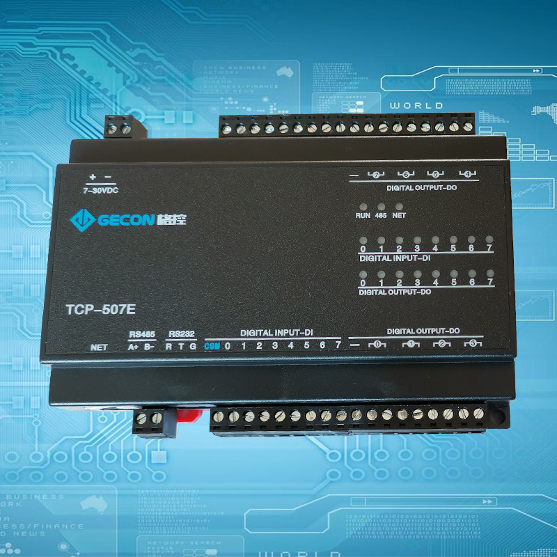 Image 2 - 8DO relay output 8DI switch input RJ45 port TCP Ethernet IO module Modbus controller-in Integrated Circuits from Electronic Components & Supplies
