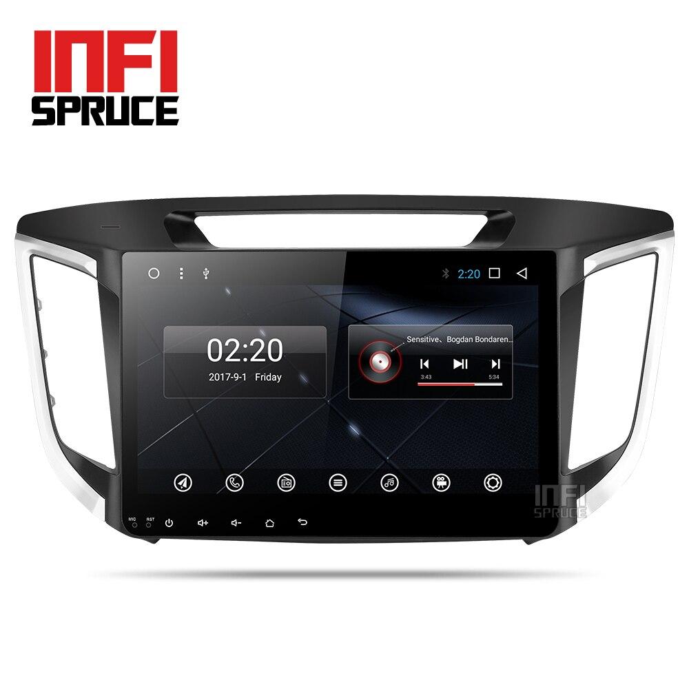 Android 7.1 dvd de voiture pour Hyundai creta ix25 2014-2017 avec 2 din huit core radio stéréo gps de navigation de voiture stéréo lecteur multimédia