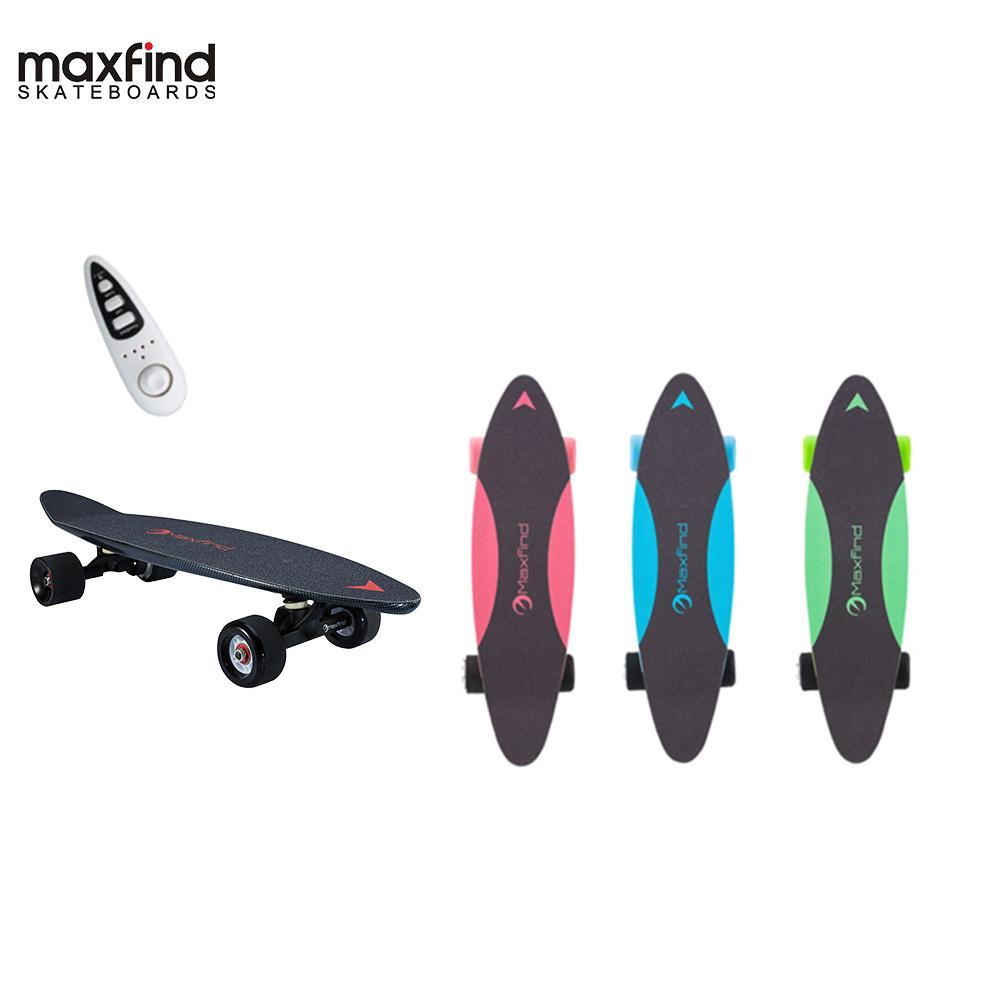 Maxfind electric skateboard four colors hub motor 3.7kg Lightweight 20KM/h 4 Wheel  Scooter Plate Skate Board-in Skate Board from Sports & Entertainment
