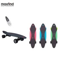 лучшая цена Maxfind electric skateboard four colors hub motor 3.7kg Lightweight 20KM/h 4 Wheel  Scooter Plate Skate Board