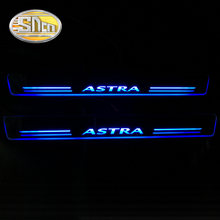 SNCN 4PCS Acrylic Moving LED Welcome Pedal Car Scuff Plate Pedal Door Sill Pathway Light For Opel Astra J H 2016 2017 2018(China)