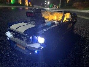 Image 4 - (光のみ) ledライトのためのクリエーターフォードマスタングGT500 1967 1960ビルディング · ブロックキットレンガ古典的なモデルのおもちゃ10265 21047