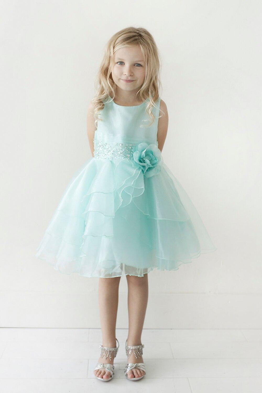 Lovely Silver Pink Purple Knee Flower Girl Dresses Princess Dresses ...