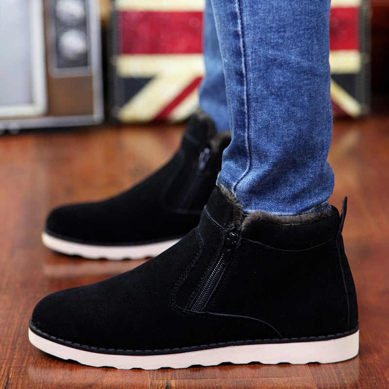 Зимняя мужская обувь, модная повседневная мужская обувь, мужская обувь для  взрослых, зимние ботинки 6c28253f9d4