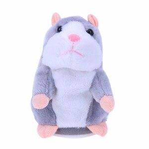 Image 3 - Kids Hamster Plush Speak Sound Toys Baby Electronic Pets Cute Plush Dolls Sound Record Speaking Hamster Talking Toys Xmas Gifts