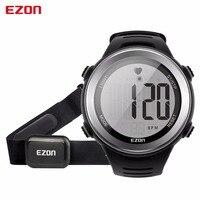 Yeni Varış EZON T007 Nabız Dijital İzle Alarm Kronometre Erkekler Kadınlar Açık Koşu Spor Saatler ile Göğüs Kayışı