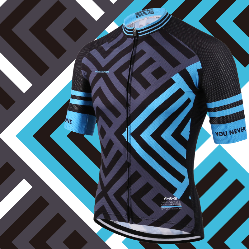 European Latest Full Sublimation Cykeltröja Andasblå Bekväma Road Bike Wear Personliga China Cycling Shirts Top