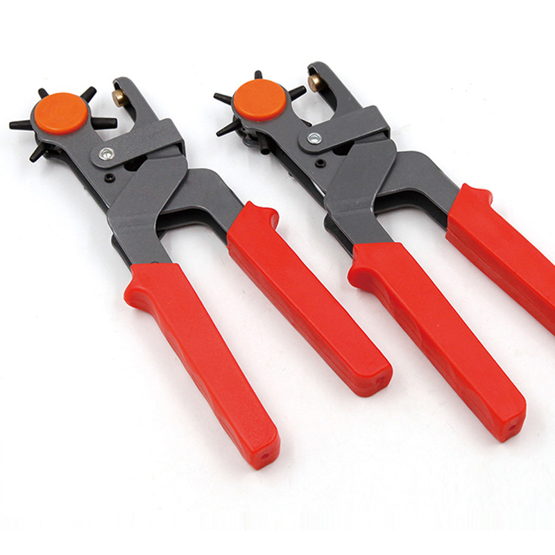 6 Hole Multifunction Portable Leather Punch Pliers Hand Belt Hole Manual Holes Drilling Machine With Screwdriver