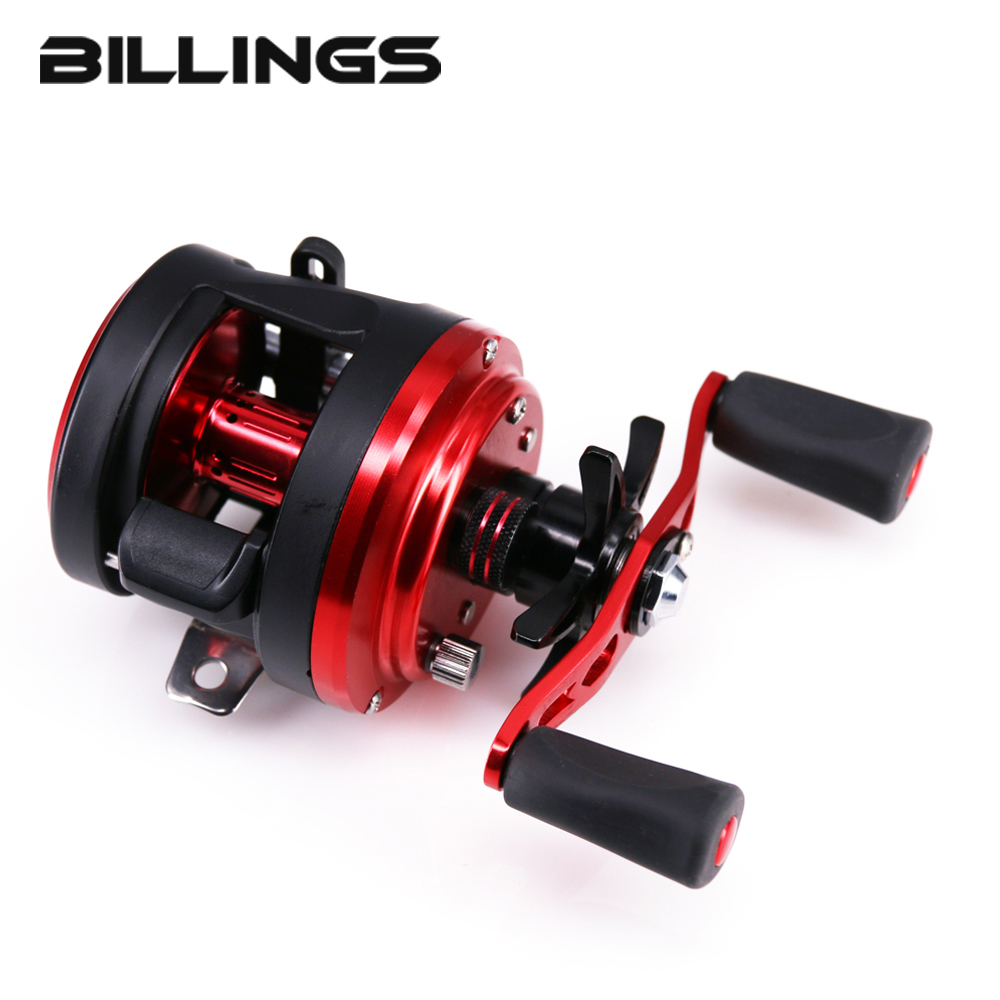 BILLINGS Magnetic Brake System 11+1BB Round Baitcasting Fishing Reel Left Right Hand Metal Spool Deep Profile Saltwater Drum