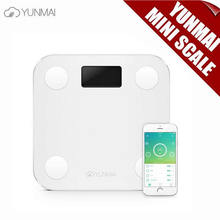 100% Original YUNMAI MINI Inteligente Android 4.3 Apoyo iOS7.0 Bluetooth4.0 Perder Peso Balanza Digital Escala de Grasa Corporal