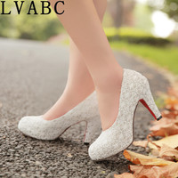 LVABC 2019 new women's high heels retro high heels club wedding essential shoes size 34 35 36 37 38 39 40 41 42 43 44