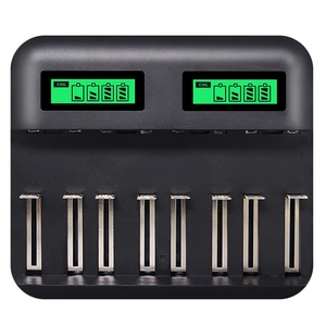 Image 1 - 8 Slots Lcd Display Usb Smart Battery Charger For Aa Aaa Sc C D Size Rechargeable Battery 1.2V Ni Mh Ni Cd Quick Charger