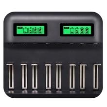 8 Slots Lcd Display Usb Smart Battery Charger Voor Aa Aaa Sc C D Size Oplaadbare Batterij 1.2V Ni Mh ni Cd Snellader