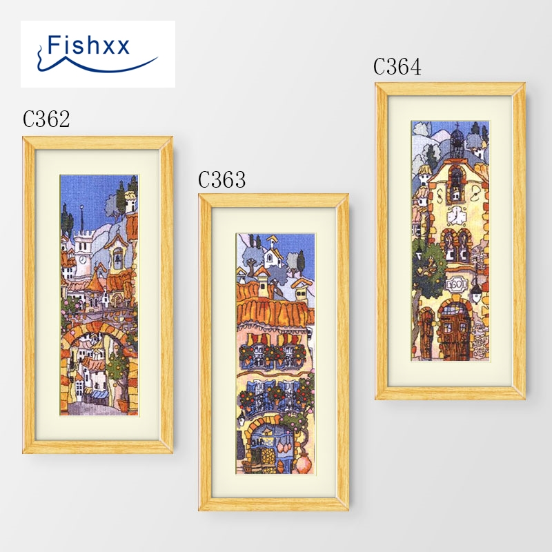 Fishxx Cross Stitch European Style Vertical Version Cartoon Castle C362-364 Children