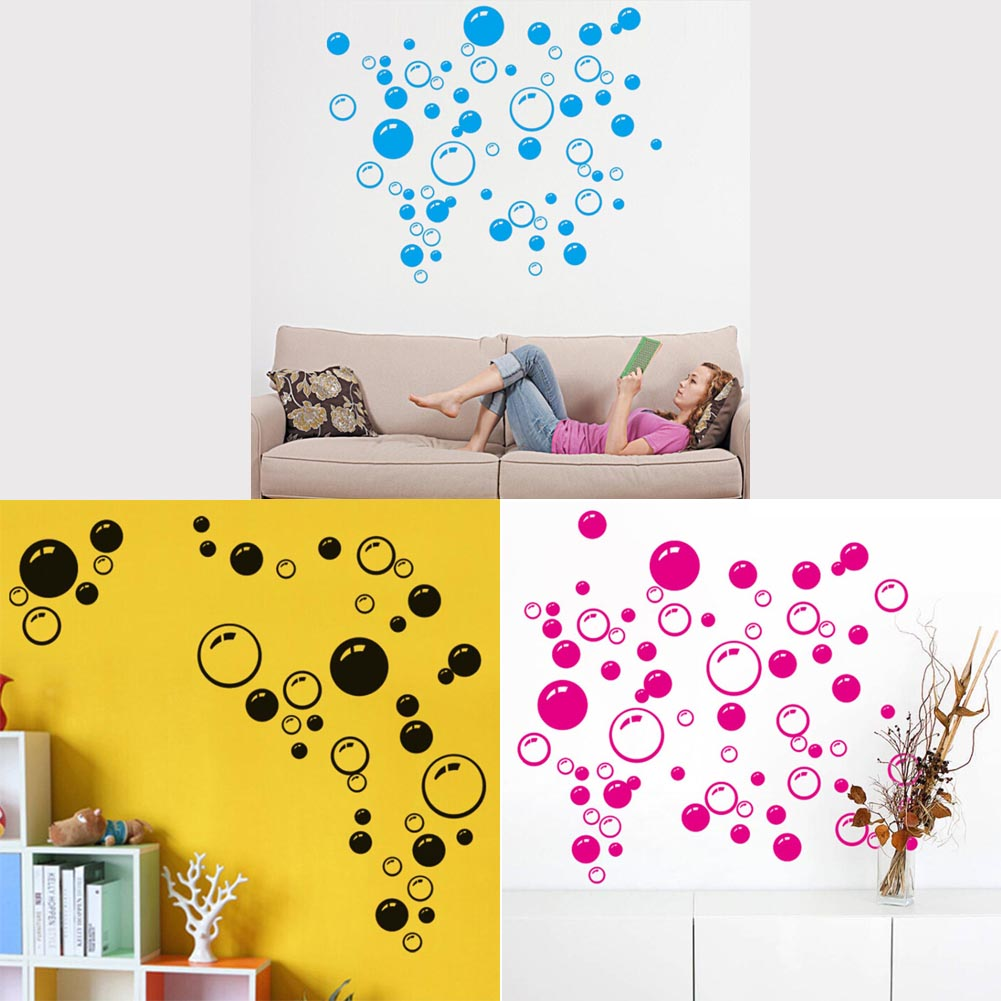 New Bubble Wall Art Bathroom Window Shower Tile Decoration Decal Kid ...