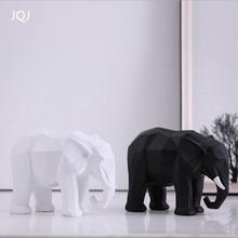 JQJ смолы абстрактный слон Скульптура фигурка украшения ремесленных Домашний Декор геометрический животных, миниатюрные фигурки ремесло, подарки