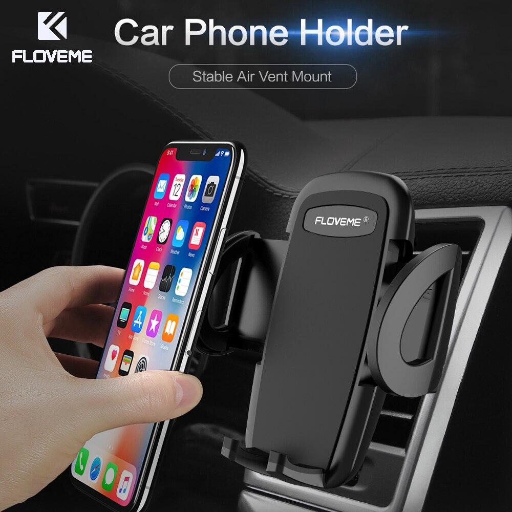 FLOVEME Autotelefon Inhaber Stehen Für iPhone 5 S SE 8 7 Plus X Samsung S8 Mobile Air Vent Halterung Auto Gps-standplatz Soporte Movil
