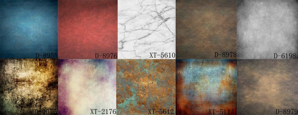 HUAYI 10 PC 2x2ft rétro solide couleur rideaux pour la photographie abstraite vinyle backdrop papier GY-024