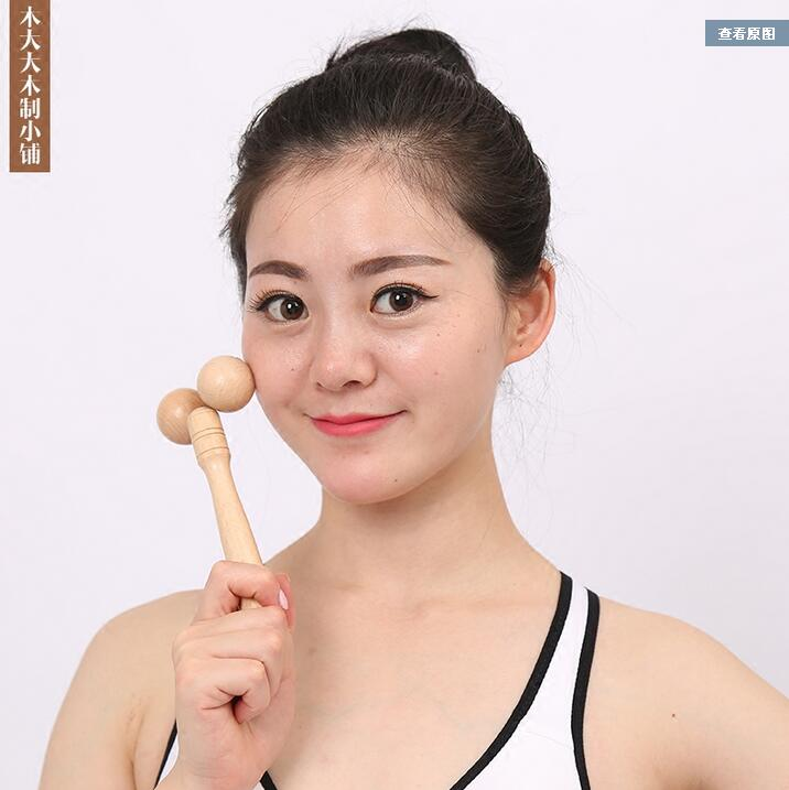 Wooden Face-lift Artifact Arm Face Body Massager Shower Double Chin Roller Massage V Face Beauty Bar slimming face lift massager roller v face solar microcurrent massage tighten skin wrinkle remover chin body leg slimming